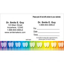 Custom Rainbow Teeth Appointment Cards