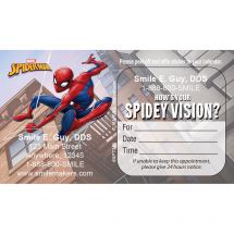 Spider-Man® Spidey Vision Eyecare Appointment Cards