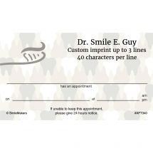 Camo Teeth Appointment Cards