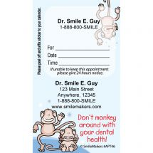 Custom Monkey Colour Lines Appointment Cards