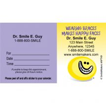 Custom Smiley Guy Braces Appointment Cards