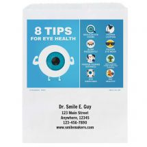 Custom Eye Health Tips Paper Bags