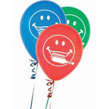 Smiley Face with Toothbrush Balloons
