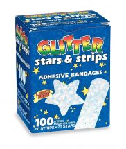 First Aid Glitter Stars & Strips Bandages - Case