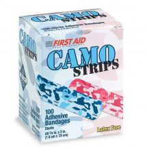 First Aid Pink & Blue Camouflage Bandages - Case