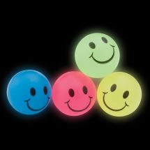 30mm Glow Smiley Face Bouncing Balls