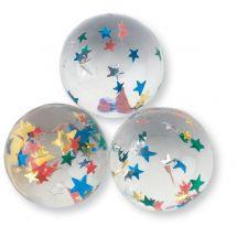 33mm Star Confetti Bouncing Balls