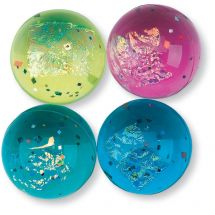 33mm Fire & Ice Glitter Bouncing Ball