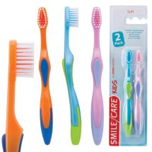 SmileCare Toddler Sure Grip 2-Pack Toothbrushes