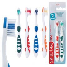 SmileCare Youth Super Grip 2-Pack Toothbrushes