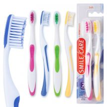 SmileCare Adult Super Grip 2-Pack Toothbrushes