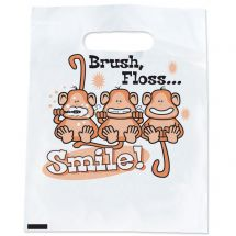 Brush, Floss, Smile Monkeys Bags