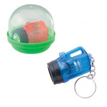 "Flashlight Keychains in 2"" Capsules"