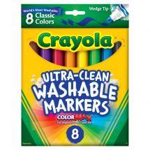8 ct. Crayola Washable Wedge Tip Markers