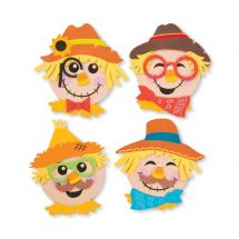 Magnetic Scarecrow Head Craft Kits