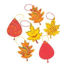 Colourful Magic Scratch Fall Leaves