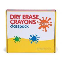 8-Colour Dry Erase Crayon Classpack