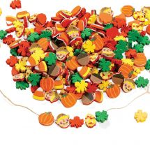 Fall Harvest Shape Foam Beads