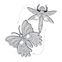Colour Your Own Bug and Butterfly Masks