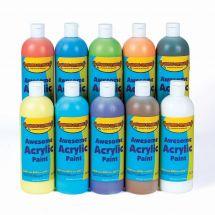 Ten Colour 16oz Acrylic Paint Set