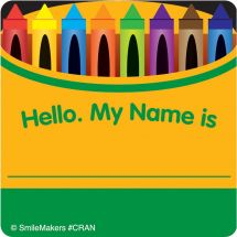 Crayon Name Tag Stickers