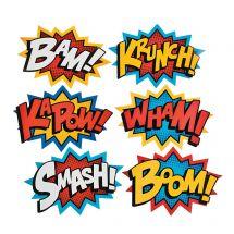 Large Superhero Word Cutouts