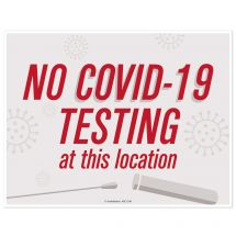 No COVID-19 Testing At This Location Wall Decal