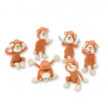 Brush, Floss, Smile Monkey Figurines