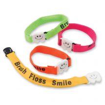 Brush Floss Smile Clip Bracelets