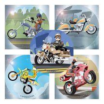Foil Motor Bikes Stickers