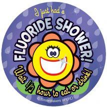 Foil Fluoride Shower Stickers