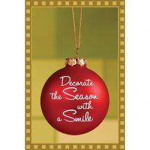 Decorate the Season with a Smile Greeting Cards
