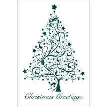 Christmas Greetings Tree Greeting Cards