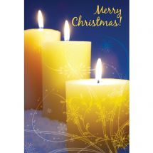 Merry Christmas Candles Greeting Cards