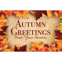 Autumn Greetings Dental Greeting Cards