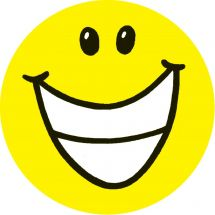 Glow in the Dark Smiley Face Stickers