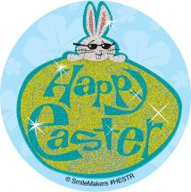 Glitter Happy Easter Stickers