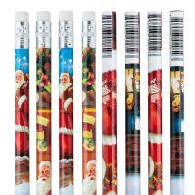 Smiling Santa Pencils