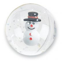 32mm Happy Snowman Bouncing Balls