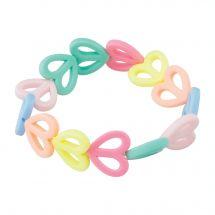 Stretchy Pastel Heart Bracelets