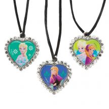 DISNEY FROZEN JEWEL HEART NECKLACES