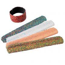 Sparkle Glitter Slap Bracelets
