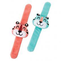 Tiger Plush Slap Bracelets
