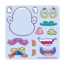Make-Your-Own Funny Face Stickers