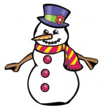Make-Your-Own Snowman Stickers
