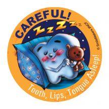 Careful Asleep Stickers