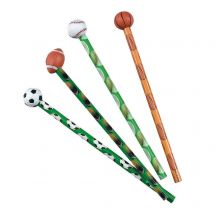 Sports Pencils with Ball Erasers