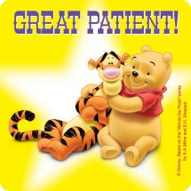 Pooh Patient Stickers