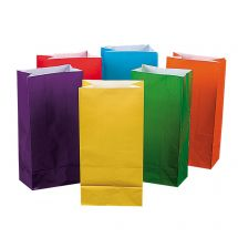 Bright Coloured Paper Bags