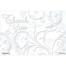 Thank You Floral Swirls Recall Cards